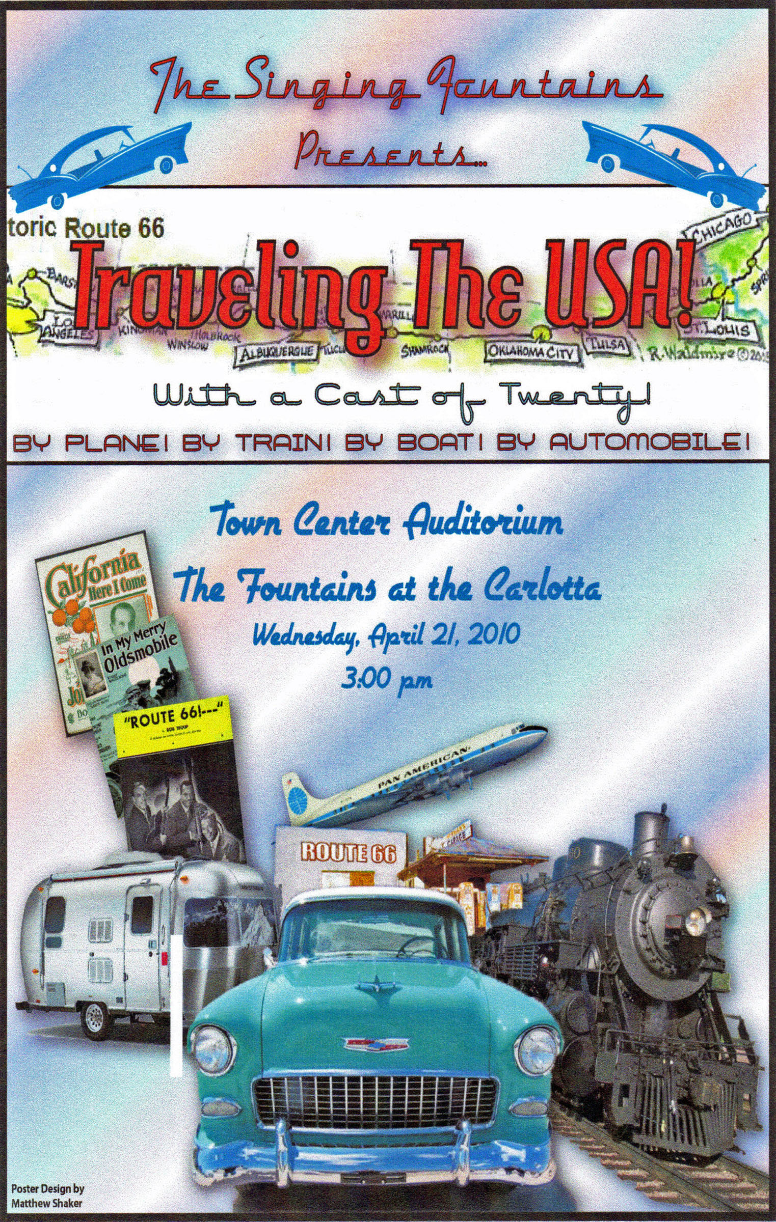 Travelin the USA poster, 2010